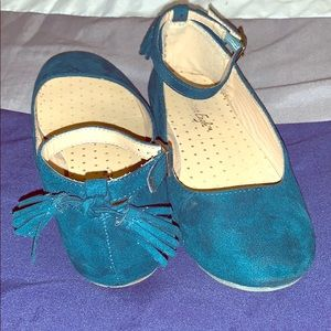 American Eagle turquoise ballet flats.